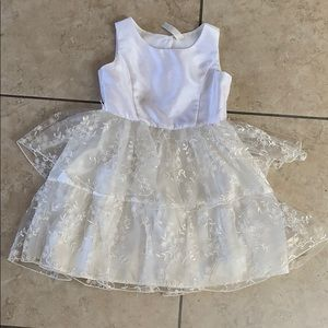 Girl's Cherokee White Formal Dress